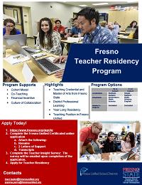 Fresno State Teacher Residency Logo flyer