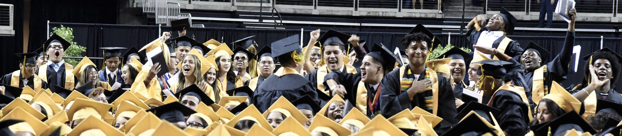 Edison graduates celebrating