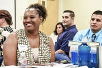 Fresno Unified employees at a training function.